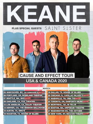 Keane at Cadillac Palace Theater