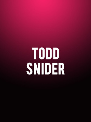 Todd Snider at Infinity Music Hall & Bistro