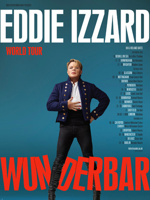 Eddie Izzard, Merriam Theater, Philadelphia