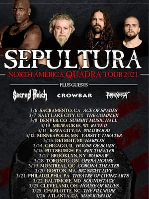 Sepultura at The Underground Charlotte