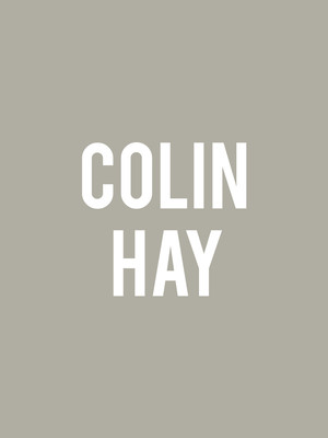 Colin Hay, Lincoln Theater, Washington