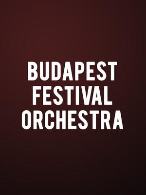Budapest Festival Orchestra Poster
