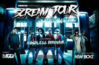 Scream tour mindless behavior arie crown theater for Farcical behavior