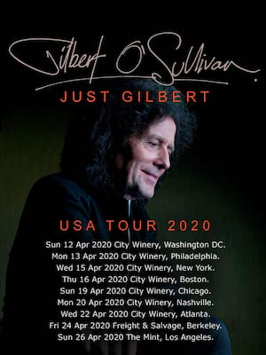 Gilbert OSullivan, City Winery, Chicago