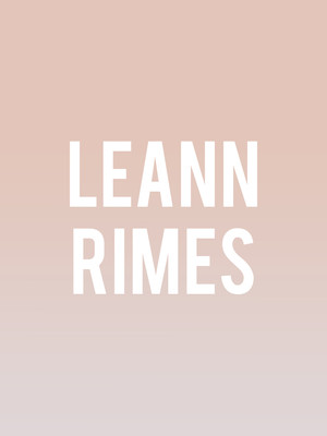 LeAnn Rimes at Bergen Performing Arts Center
