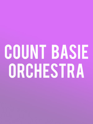 Count Basie Orchestra, Benaroya Hall, Seattle