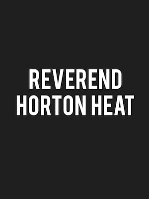 Reverend Horton Heat at Paper Tiger