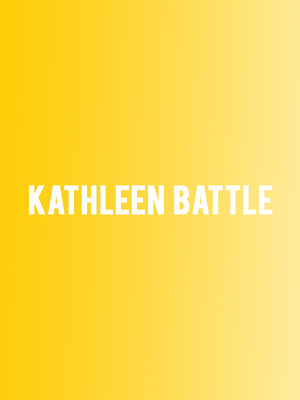 Kathleen Battle, Kennedy Center Concert Hall, Washington