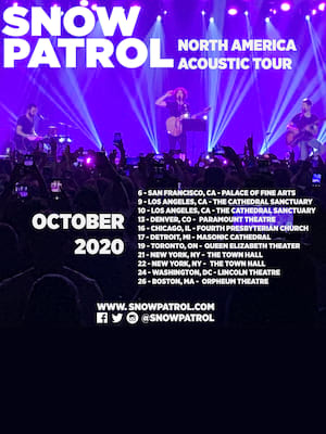 Snow Patrol at Masonic Temple Theatre