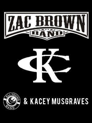 Kenny Chesney, Zac Brown Band, Eli Young Band & Kacey Musgraves Poster