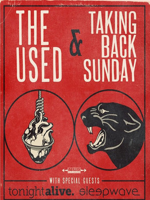 The Used & Taking Back Sunday Poster