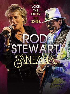 Rod Stewart & Santana Poster