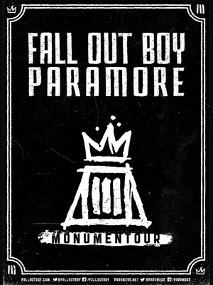 Monumentour: Fall Out Boy & Paramore Poster