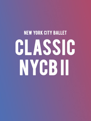 New York City Ballet - Classic NYCB II Poster