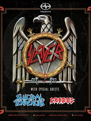 Slayer, Suicidal Tendencies & Exodus Poster