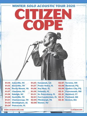 Citizen Cope, Wilbur Theater, Boston