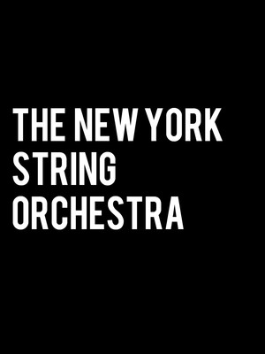 New York String Orchestra Poster