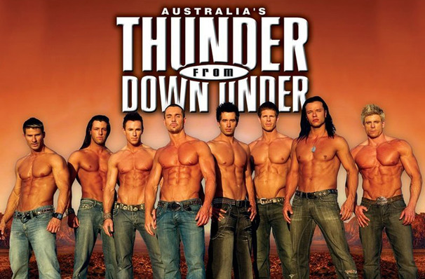 Don't miss Thunder From Down Under one night only!