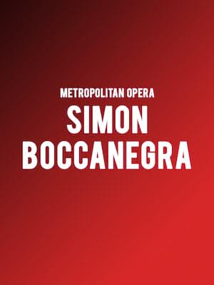 Metropolitan Opera: Simon Boccanegra at Metropolitan Opera House