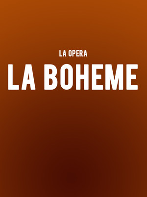 Los Angeles Opera - La Boheme Poster