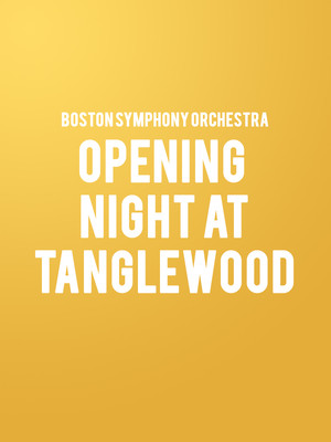 Opening Night at Tanglewood Poster