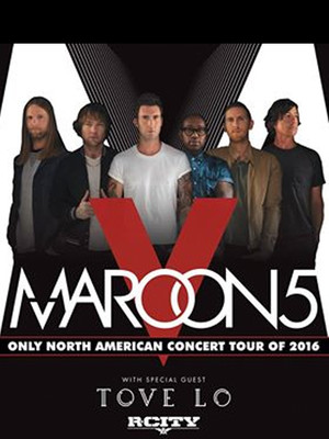 Maroon 5, Tove Lo & R. City at Key Arena