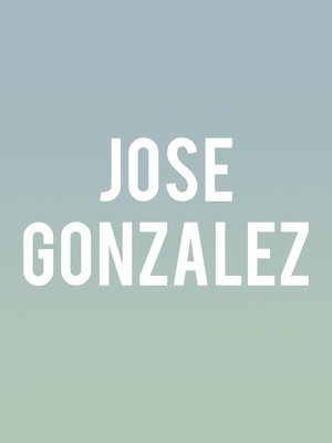 Jose Gonzalez, The Slowdown, Omaha