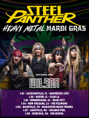 Steel Panther at Rapids Theatre