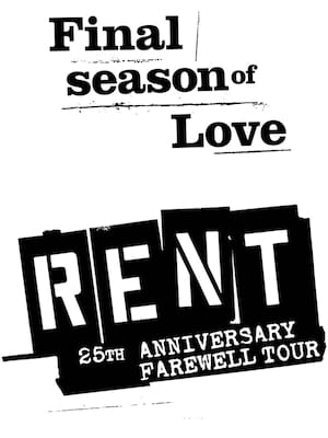Rent, Shubert Theatre, Boston