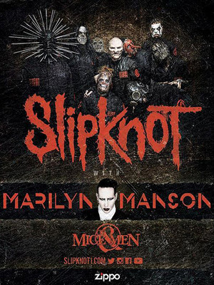 Slipknot, Marilyn Manson & Of Mice and Men Poster