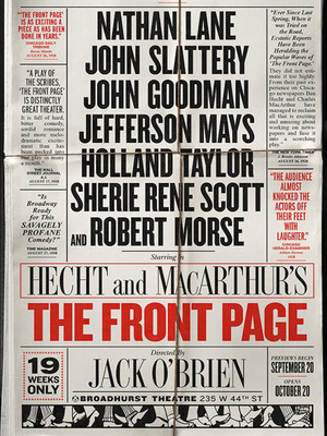 The Front Page at Broadhurst Theater