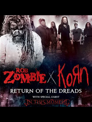 Rob Zombie, Korn & In This Moment Poster