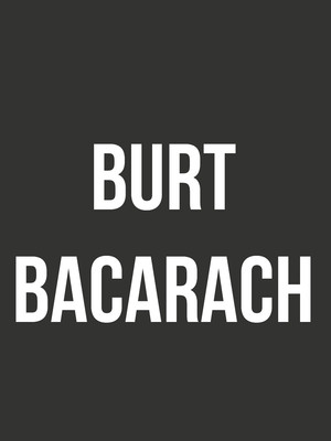 Burt Bacharach Poster