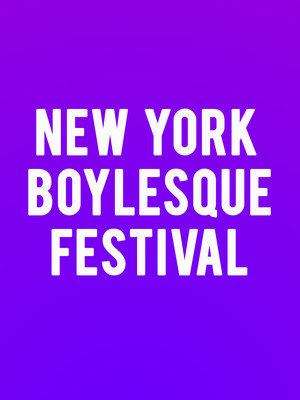 New York Boylesque Festival Poster
