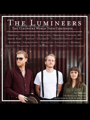 The Lumineers Rayland Baxter, SaskTel Centre, Saskatoon