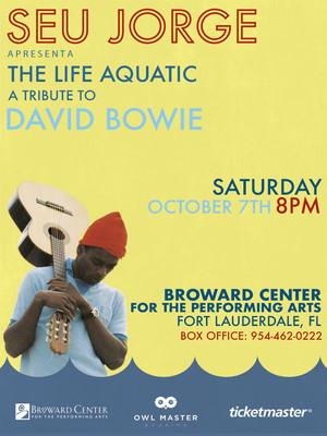Seu Jorge The Life Aquatic A Tribute to David Bowie, Boston Symphony Hall, Boston