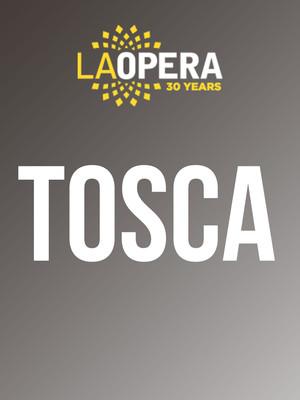 LA Opera: Tosca Poster