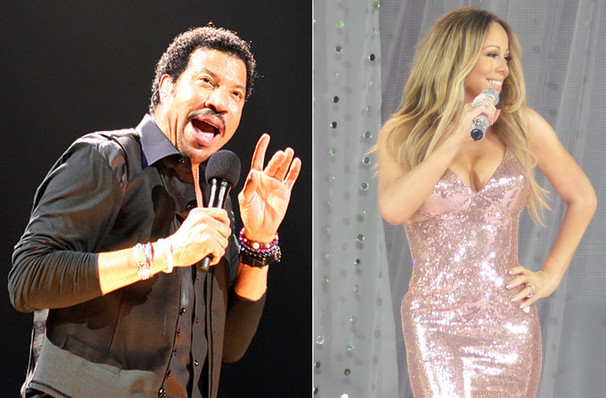 Lionel Richie with Mariah Carey, TD Garden, Boston