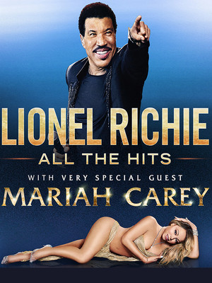 Lionel Richie with Mariah Carey at Oracle Arena