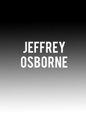 Jeffrey Osborne at Sony Hall