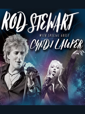Rod Stewart and Cyndi Lauper at Budweiser Stage