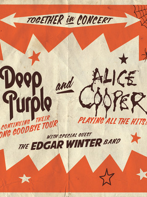 Deep Purple and Alice Cooper Poster