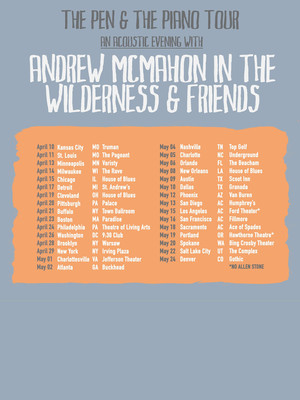Andrew McMahon at House of Blues