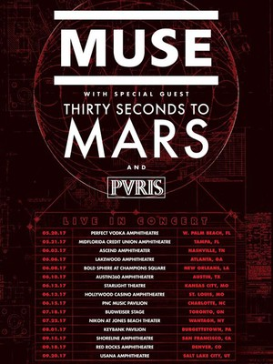 Muse with 30 Seconds to Mars, Bold Sphere at Champions Square, New Orleans