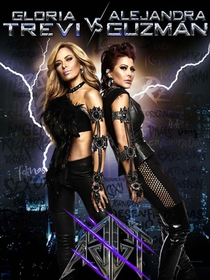 Gloria Trevi and Alejandra Guzman at Gila River Arena