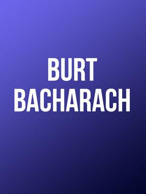 Burt Bacharach, Davies Symphony Hall, San Francisco