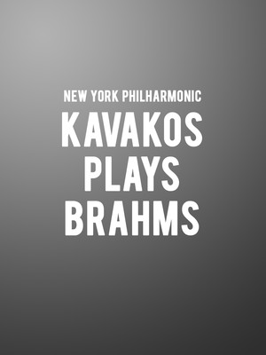 New York Philharmonic - Kavakos Plays Brahms at David Geffen Hall at Lincoln Center