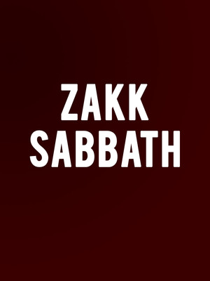 Zakk Sabbath, The Fonda Theatre, Los Angeles