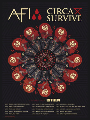 AFI and Circa Survive Poster