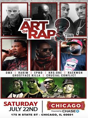 The Art of Rap Festival - DMX, Rakim, EPMD Poster